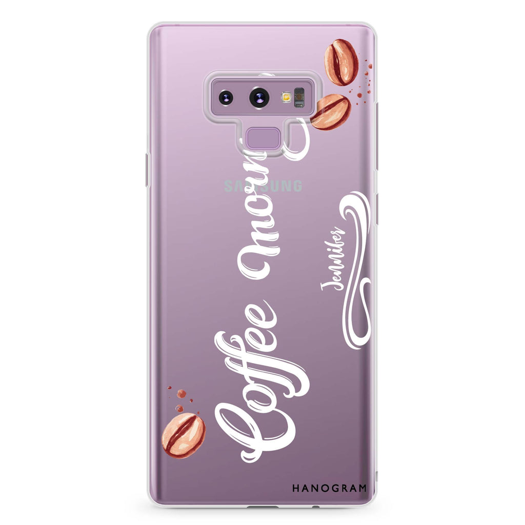 Coffee & Me Samsung Note 9 Soft Clear Case