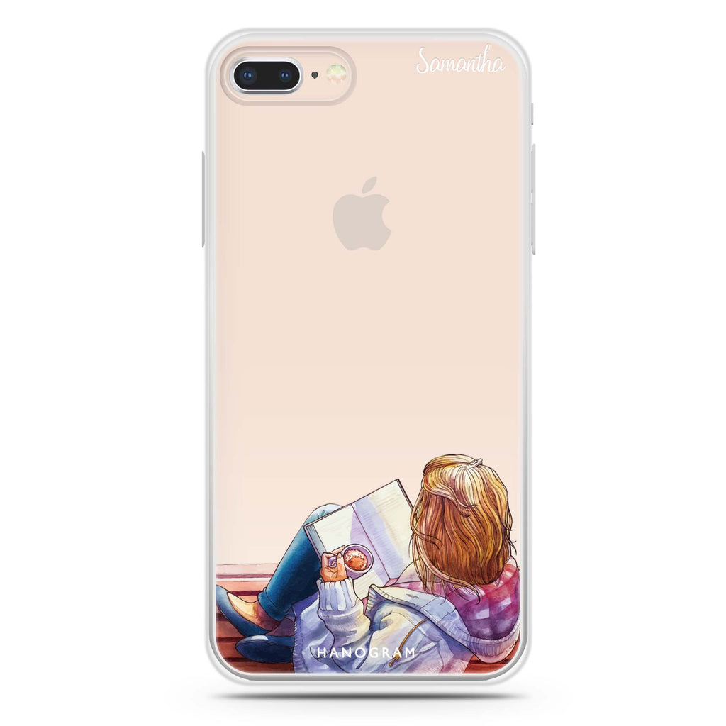 Relax With My Coffee iPhone 8 Soft Clear Case