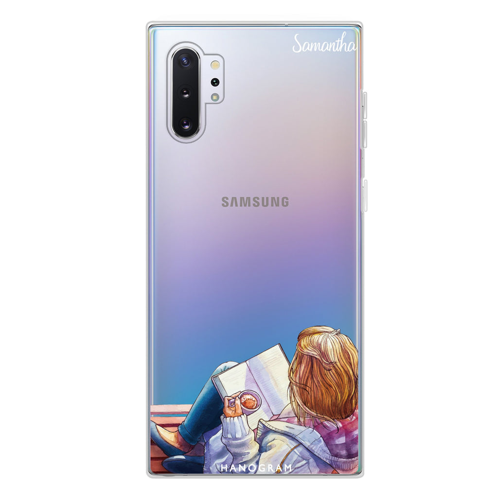Relax With My Coffee Samsung Note 10 Plus Soft Clear Case
