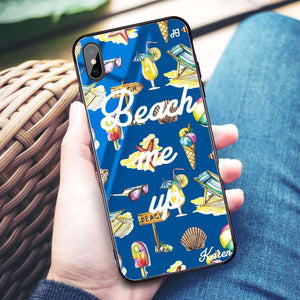 Beach me up Princess Blue Glass Case