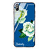 White Rose Princess Blue Glass Case