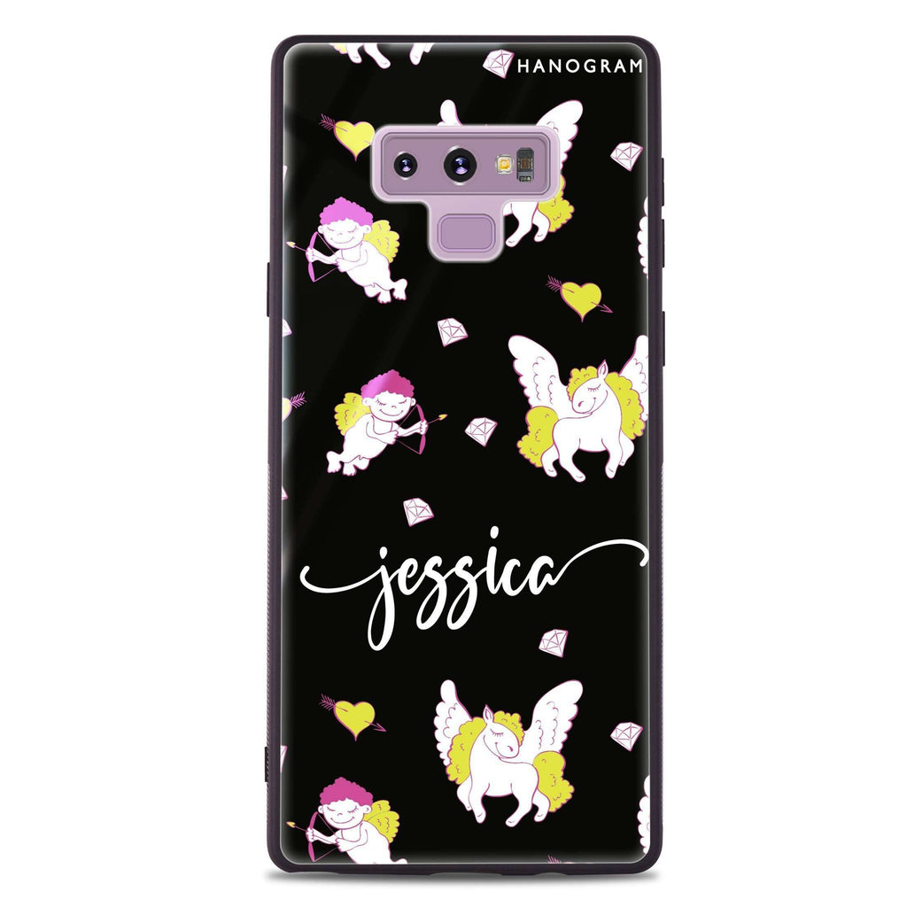 Angel & Unicorn Samsung Note 9 Glass Case