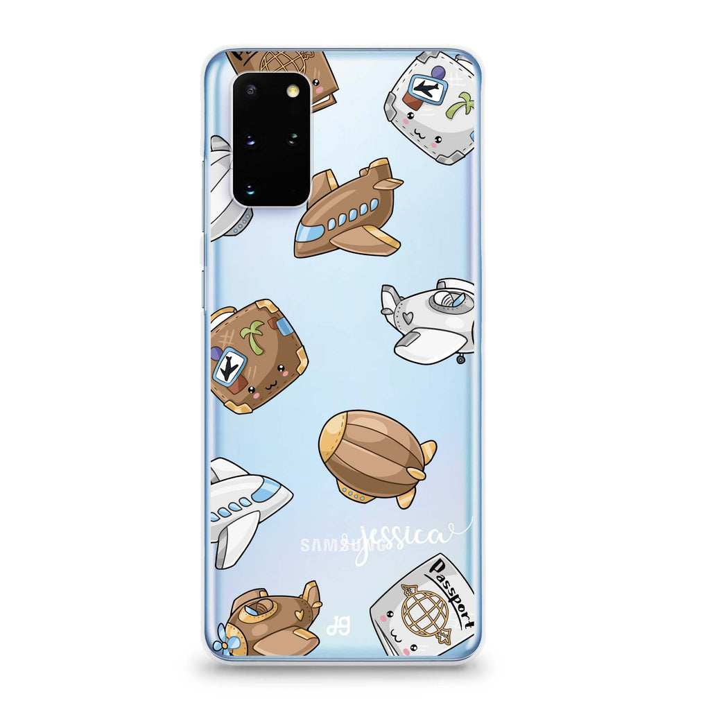 Cartoon AirPlane Samsung S20 Soft Clear Case