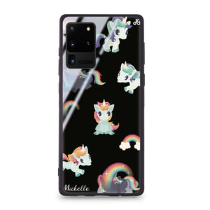Unicorn & Rainbow Samsung Glass Case