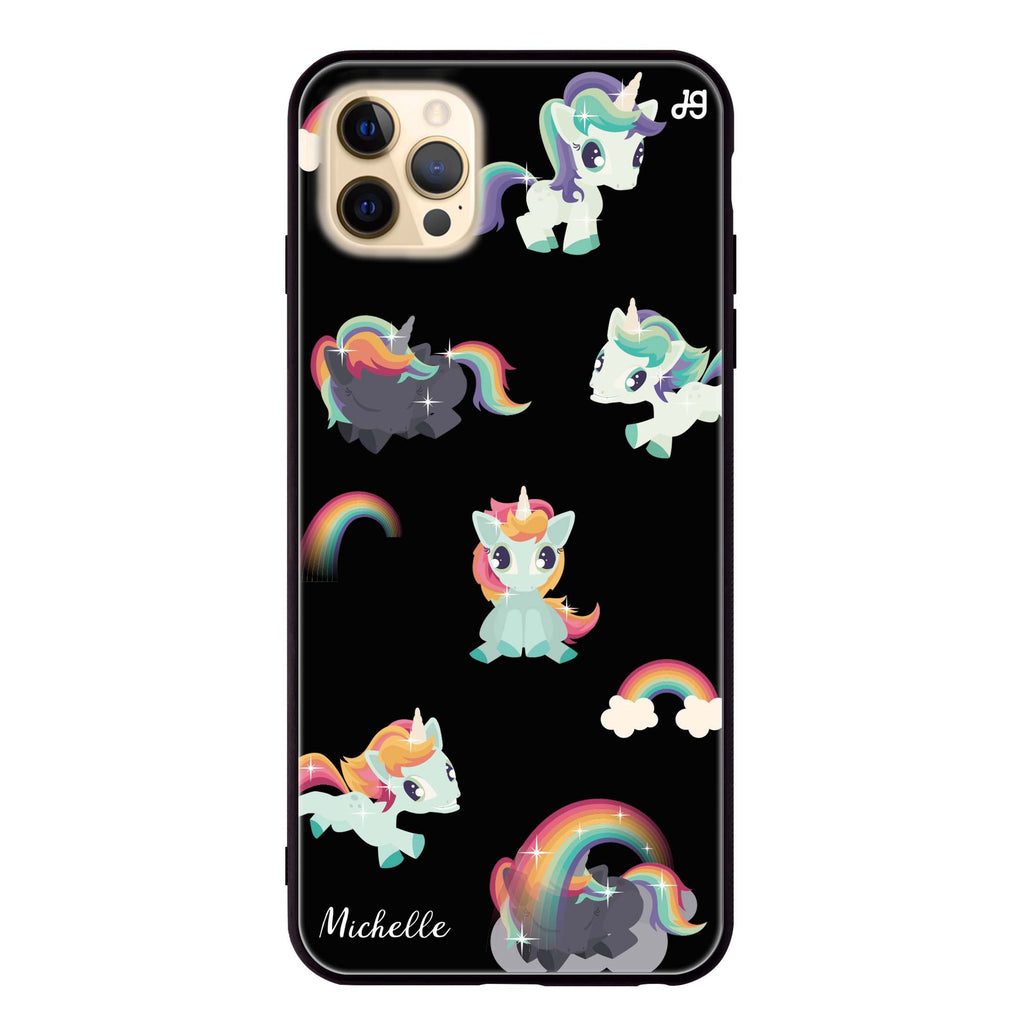 Unicorn & Rainbow Glass Case
