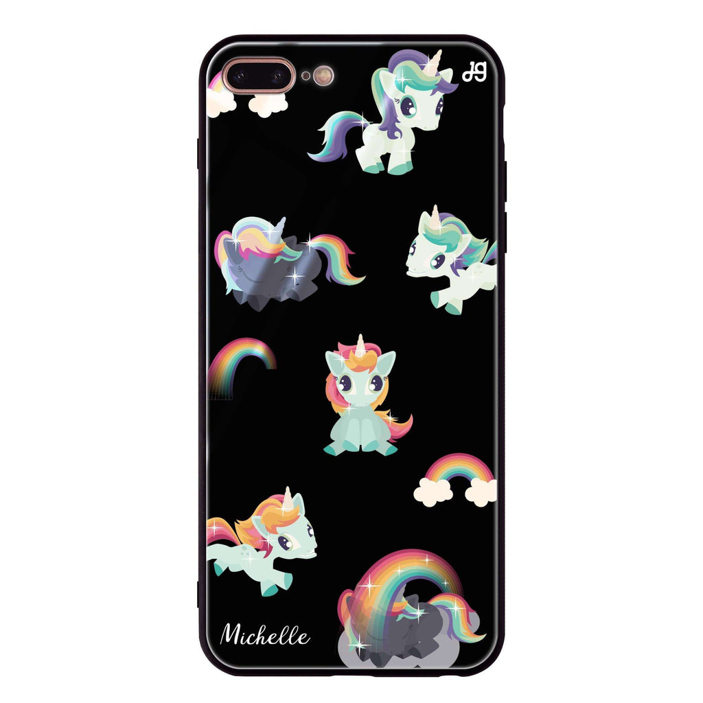 Unicorn & Rainbow iPhone 8 Plus Glass Case