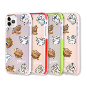 Cartoon AirPlane Frosted Bumper Case