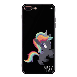 Lovely Unicorn I iPhone 8 Plus Glass Case