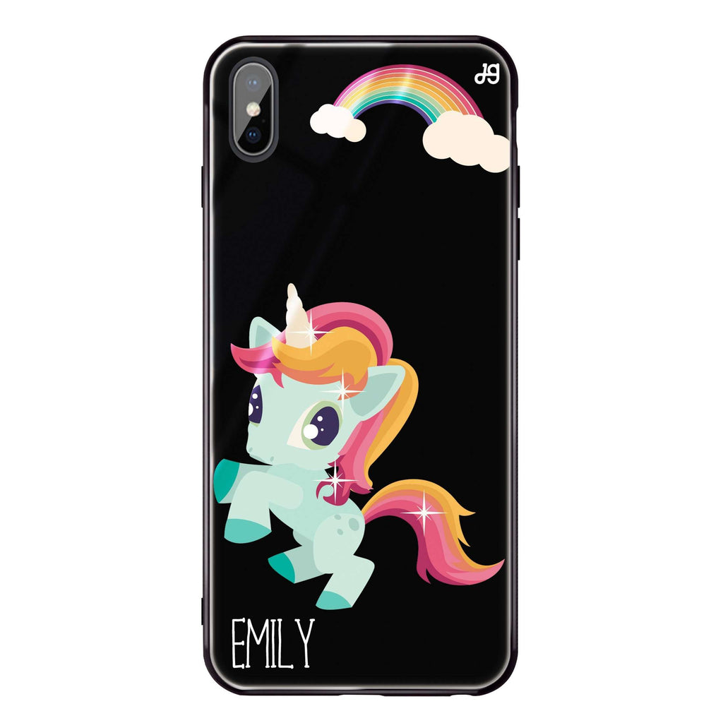 Lovely Unicorn II iPhone XS Max Glass Case