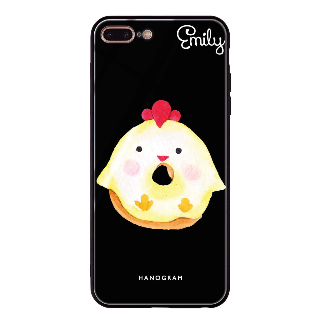 Sweet donut chick iPhone 8 Plus Glass Case
