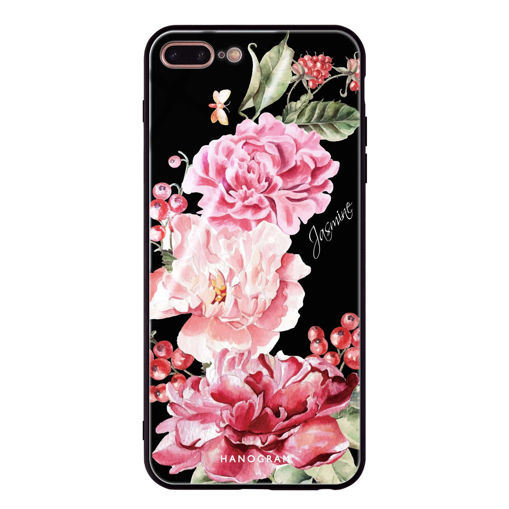 Pretty Watercolor Flowers iPhone 7 Plus Glass Case