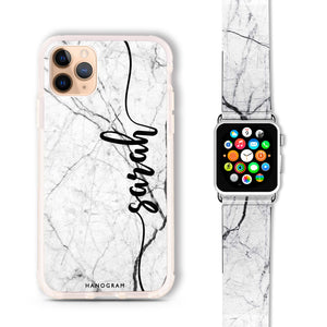 Marble Edition II - Frosted Bumper Case and Watch Band