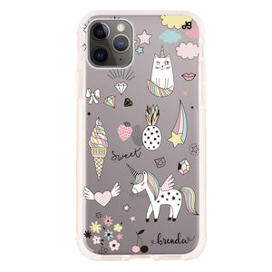 My lovely Cartoon Frosted Bumper Case