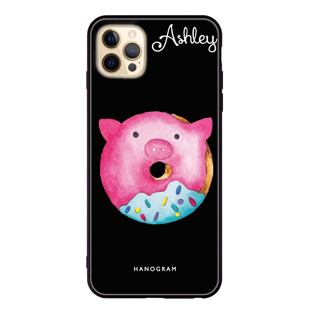 Sweet donut piggy Glass Case