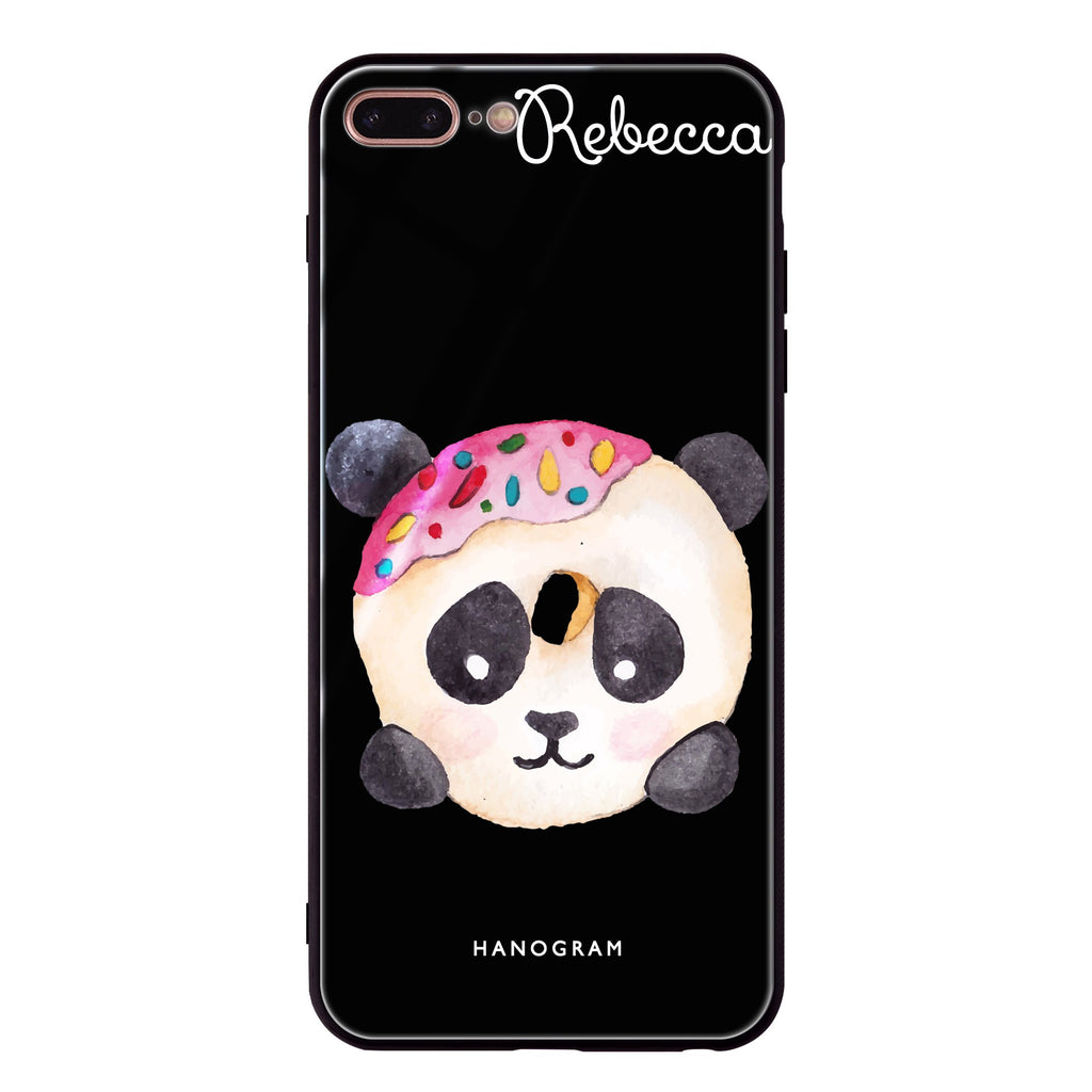 Sweet donut panda iPhone 8 Plus Glass Case