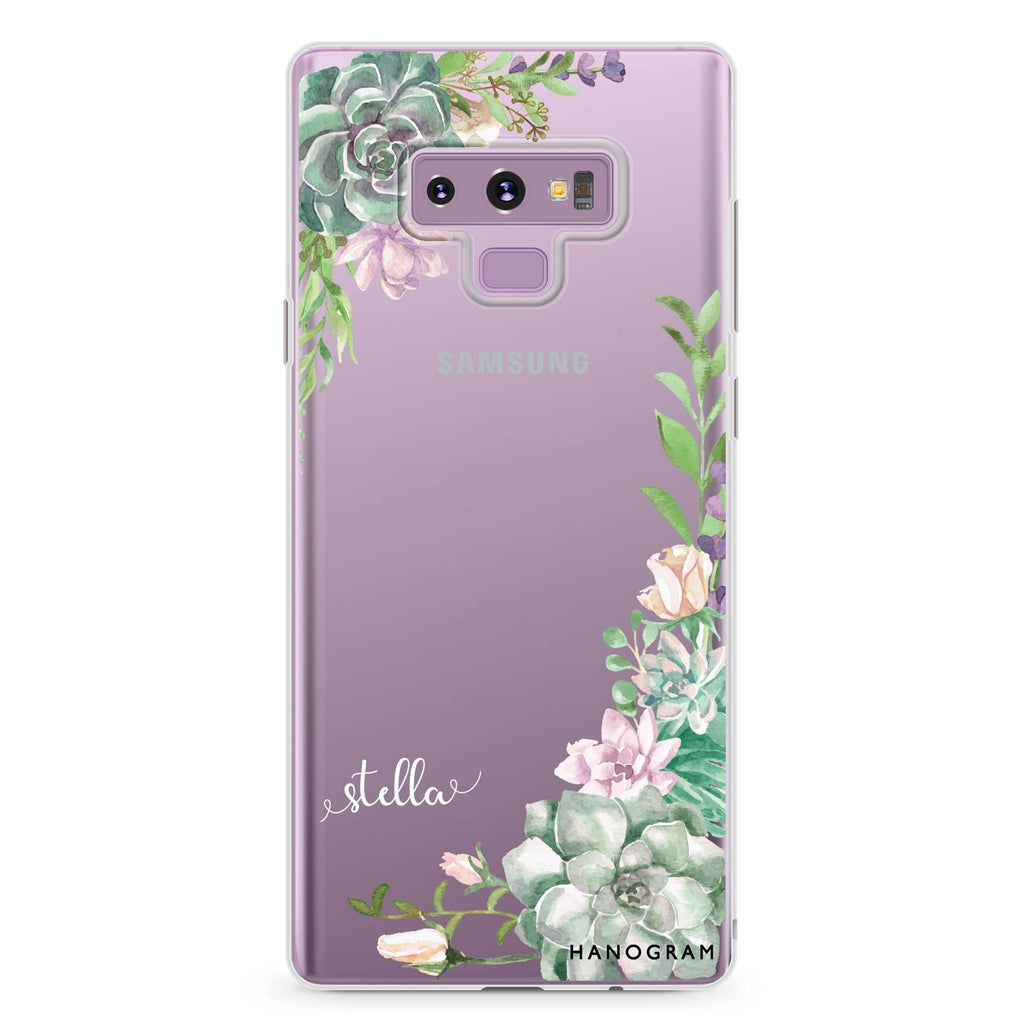 Rose in Wild Samsung Note 9 Soft Clear Case