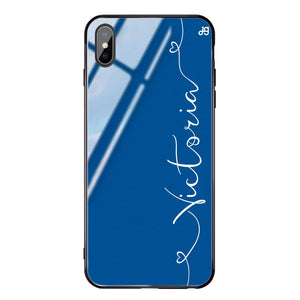 Loving Heart I Princess Blue Glass Case