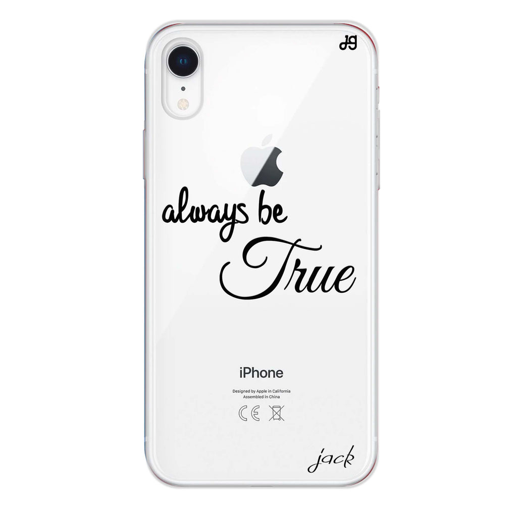 Always be true love with passion I iPhone XR Soft Clear Case