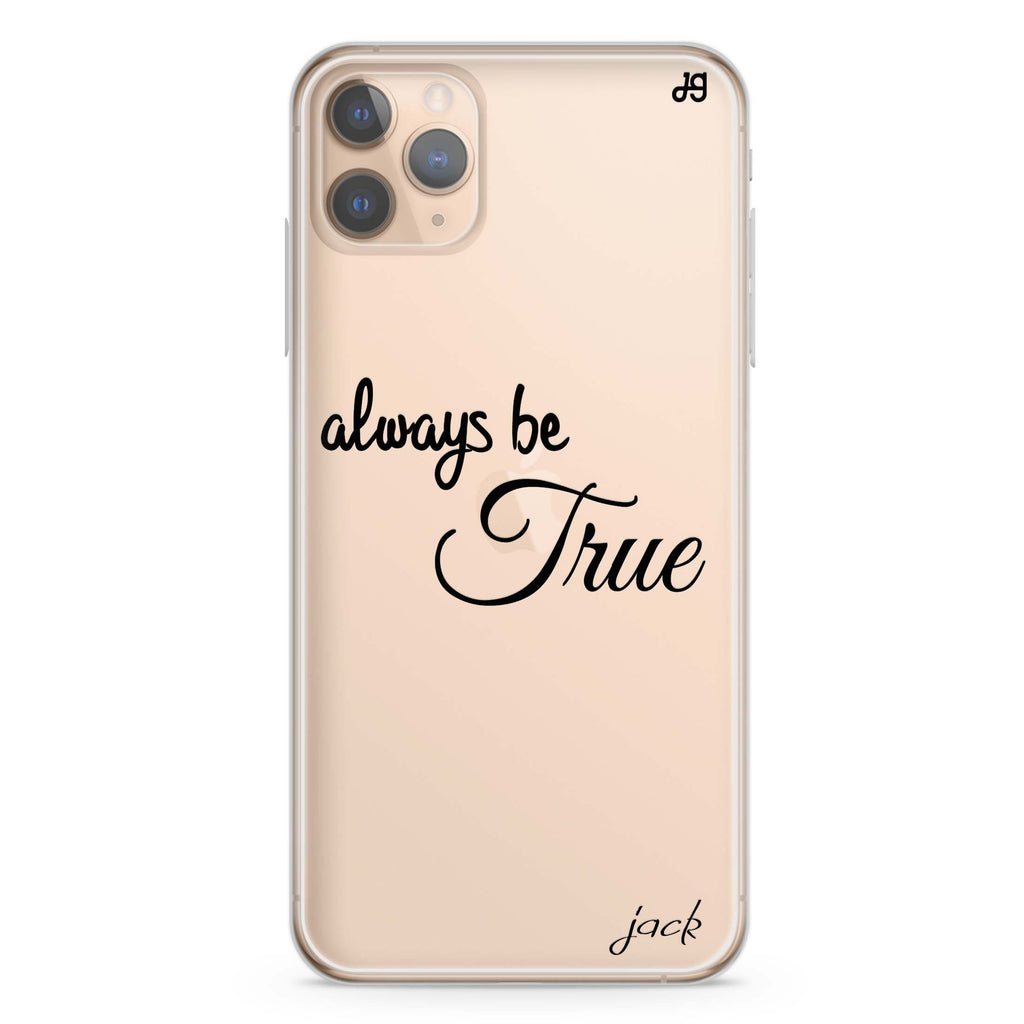 Always be true love with passion II iPhone 11 Pro Max Soft Clear Case