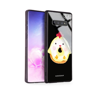 Sweet donut chick Samsung S10 Plus Glass Case