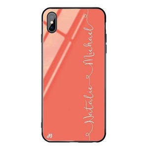 Love with Heart Living Coral Glass Case