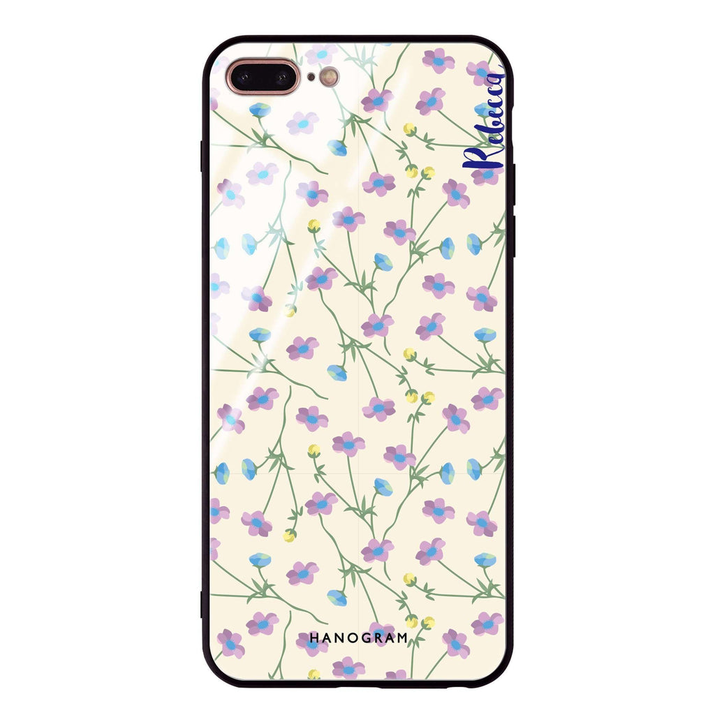 Girly floral iPhone 7 Plus Glass Case