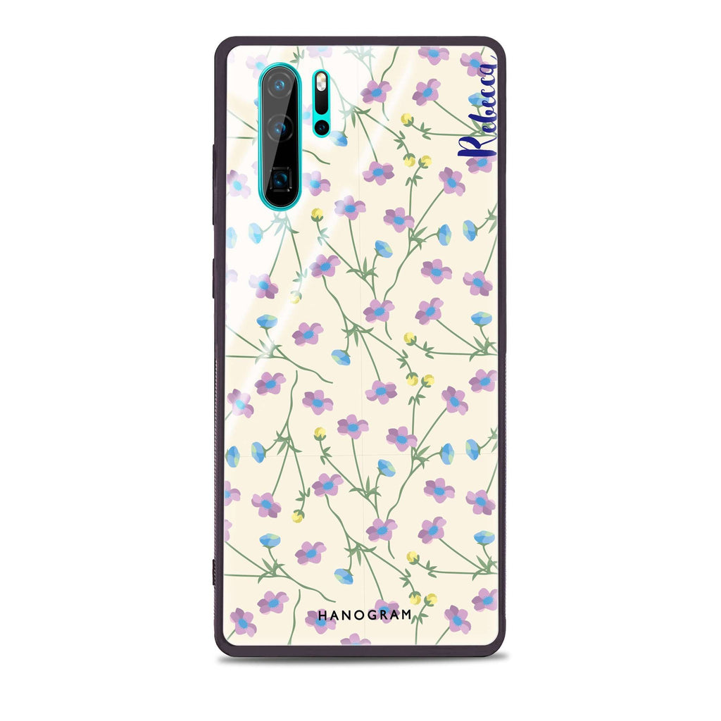 Girly floral Huawei Glass Case