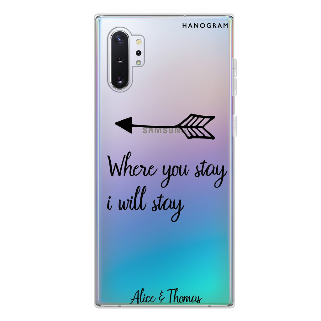 Always love together Samsung Note 10 Plus Soft Clear Case