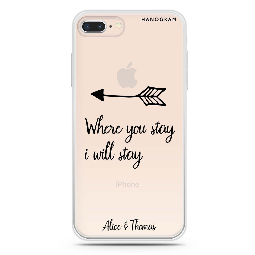 Always love together iPhone 8 Soft Clear Case