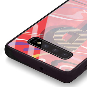 Glitched Monogram Samsung S10 Plus Glass Case