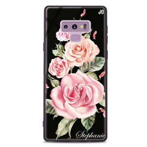Pink Watercolor Floral Samsung Note 9 Glass Case