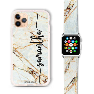 Marble Edition III - Frosted Bumper Case and Watch Band