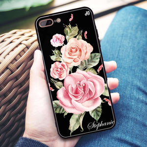Pink Watercolor Floral iPhone 8 Plus Glass Case