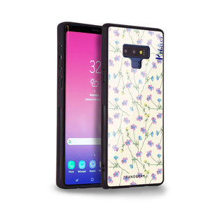 Girly floral Samsung Note 9 Glass Case