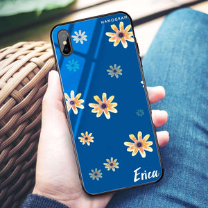Faceflower Princess Blue Glass Case