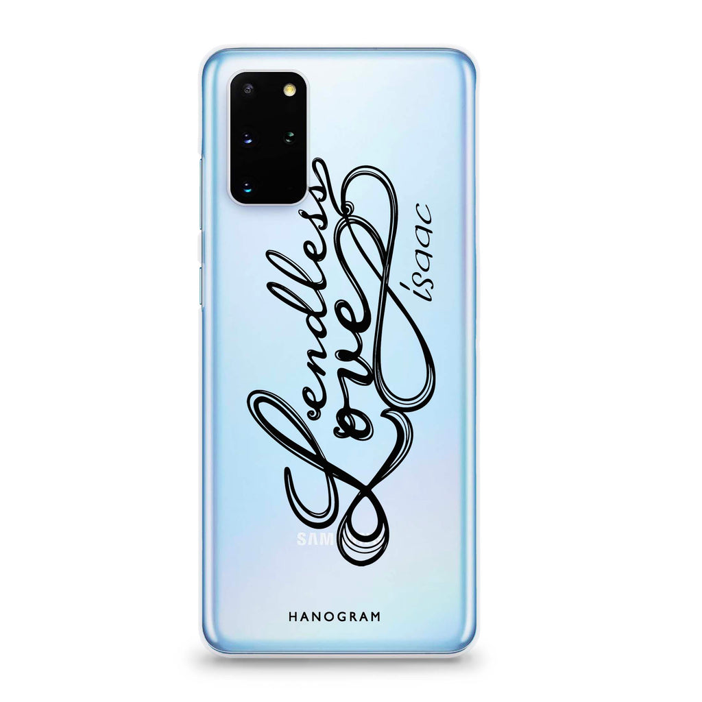 Infinity love Samsung S20 Plus Soft Clear Case