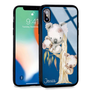 Koala Princess Blue Glass Case