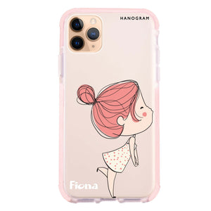 Cute girl kissing Shockproof Bumper Case