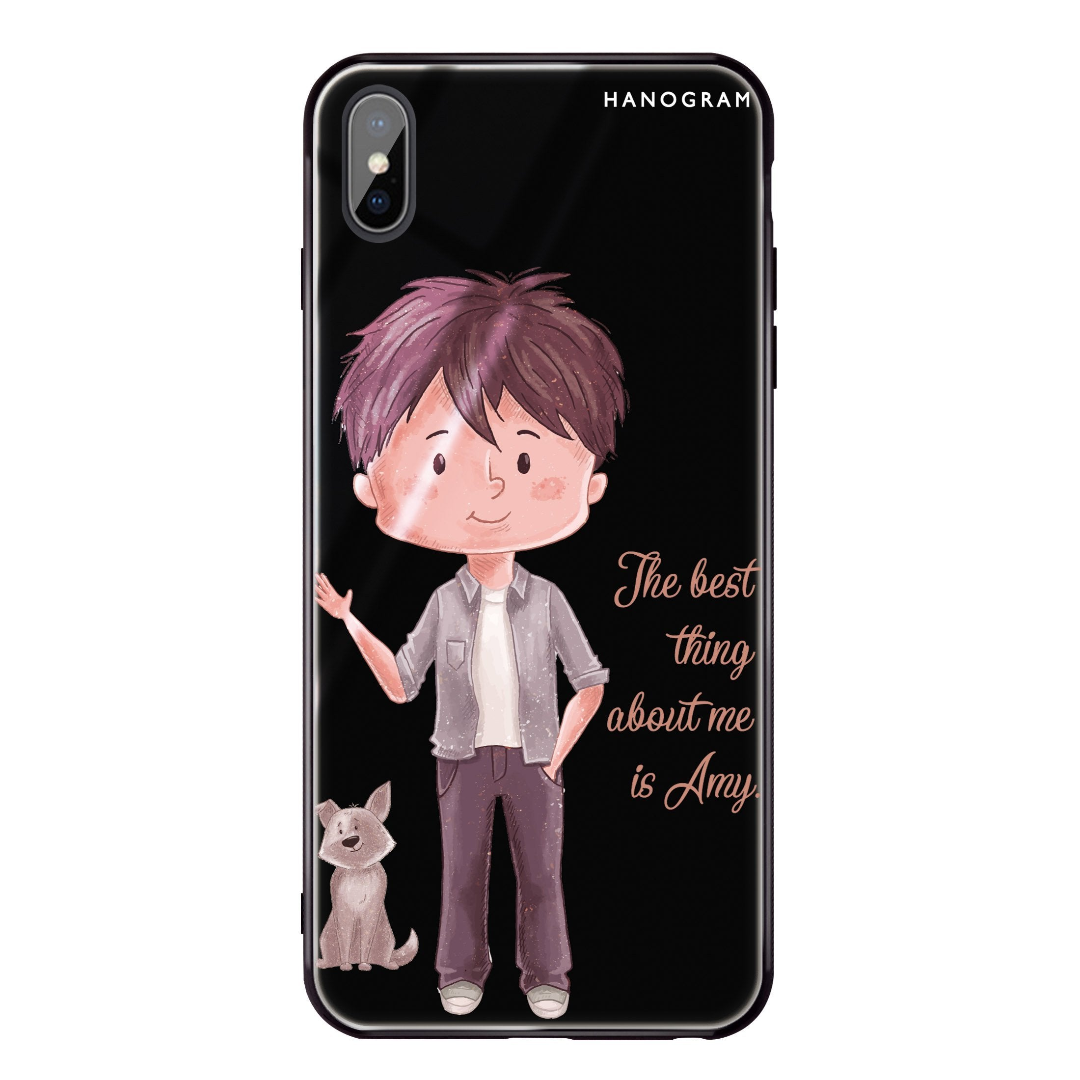 buy popular 1af2e 71ba3 The best thing about you girl iPhone X Glass Case