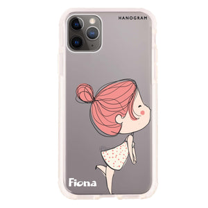 Cute girl kissing Frosted Bumper Case