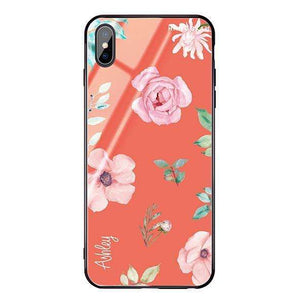 Rose Flower Living Coral Glass Case
