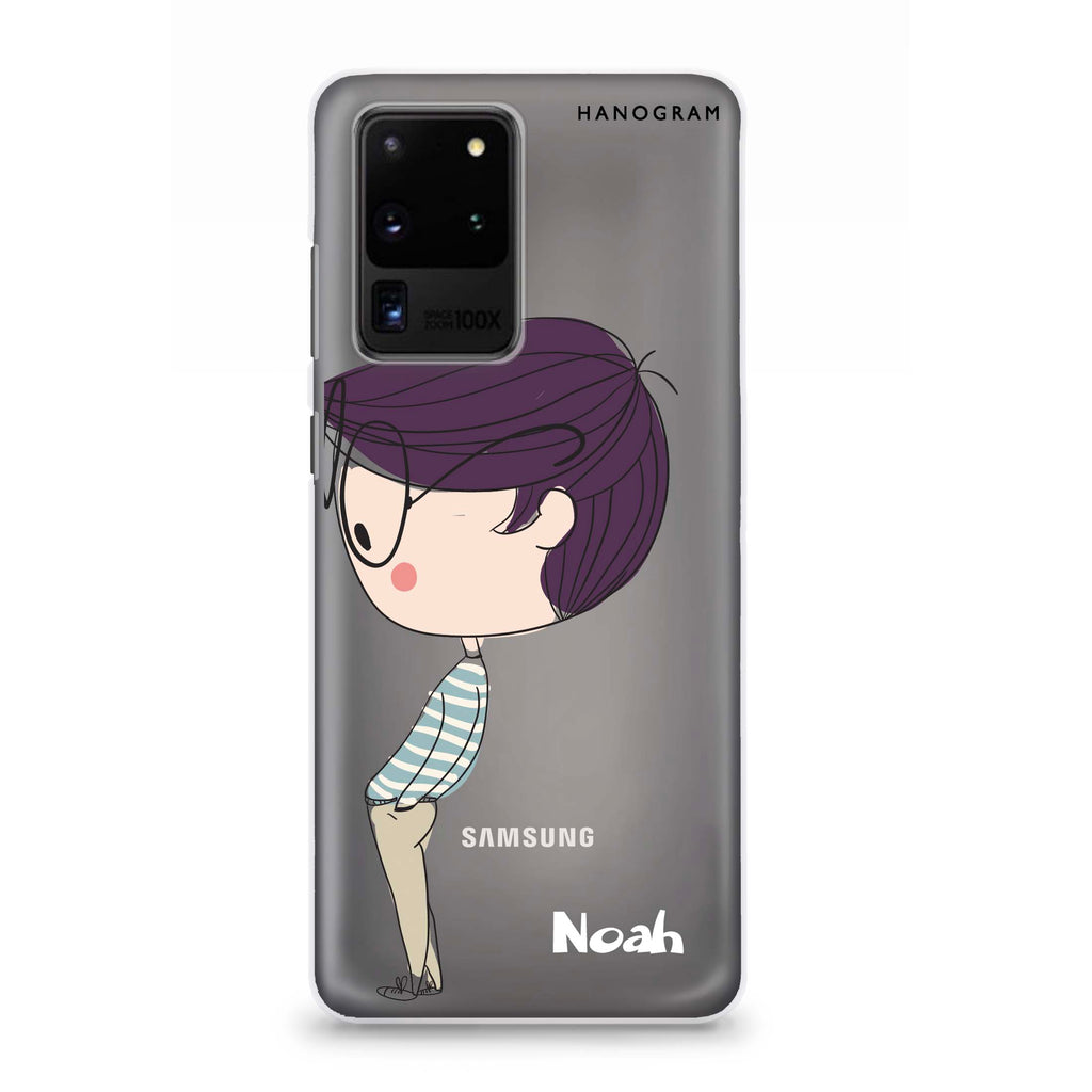 Boy kissing Samsung S20 Ultra Soft Clear Case