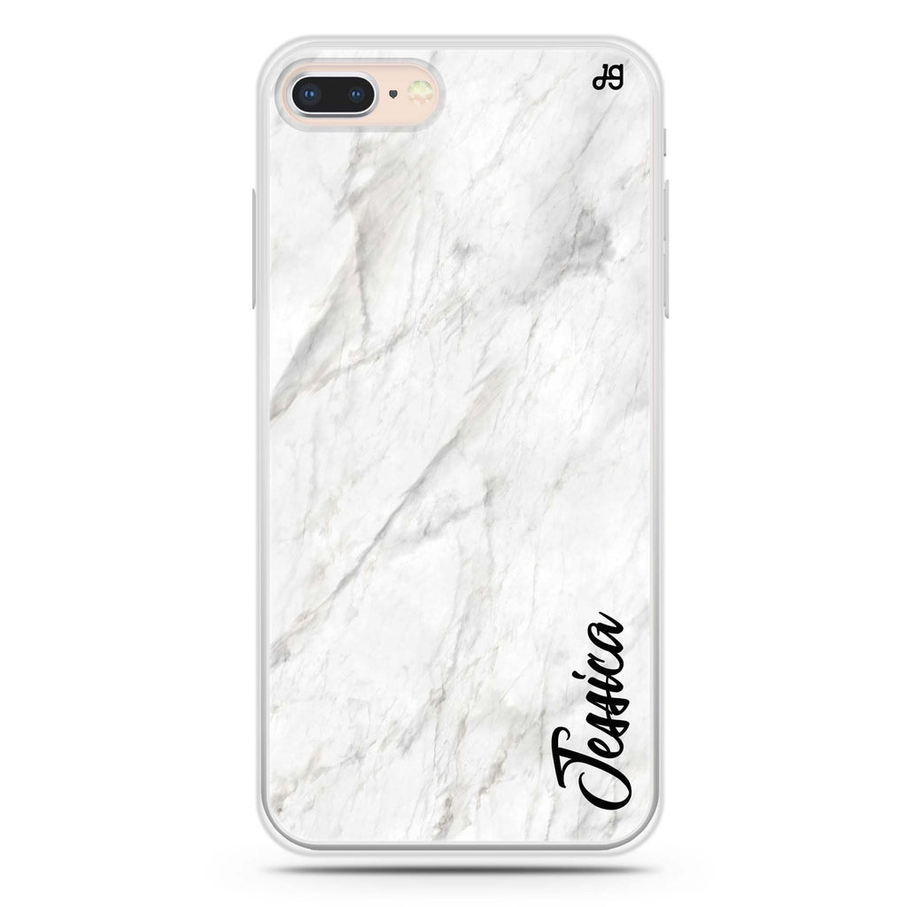 White Marble – Deep Love iPhone 7 Plus Soft Clear Case