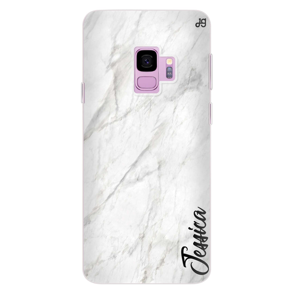 White Marble – Deep Love Samsung S9 Soft Clear Case