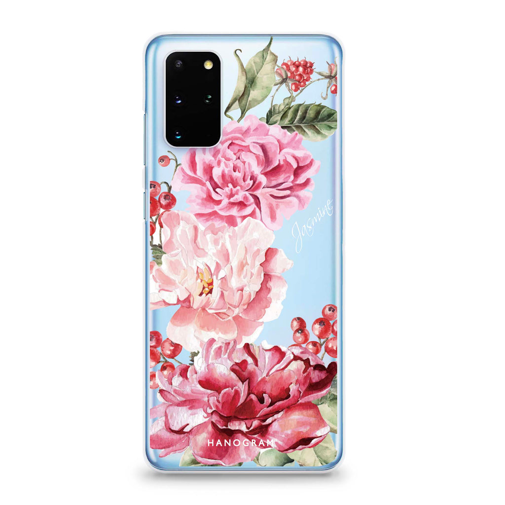 Pretty Watercolor Flowers Samsung S20 Plus Soft Clear Case