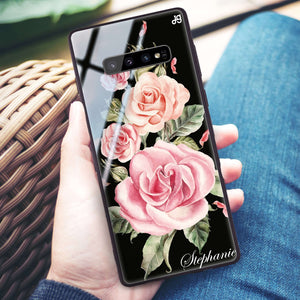 Pink Watercolor Floral Samsung S10 Plus Glass Case