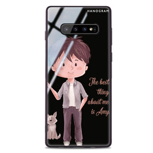 The best thing about you girl Samsung S10 Plus Glass Case