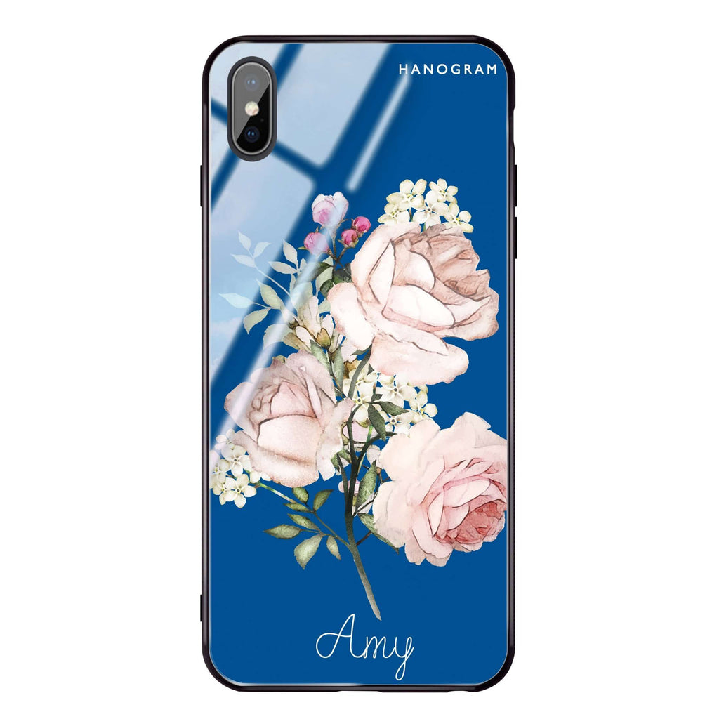 Elegant Rose II Princess Blue Glass Case