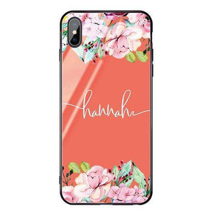 Floral Dream I Living Coral Glass Case