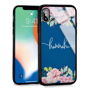 Floral Dream I Princess Blue Glass Case